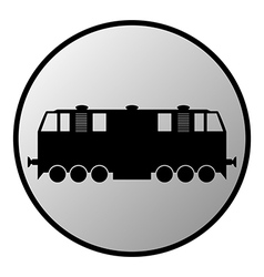 Train button vector