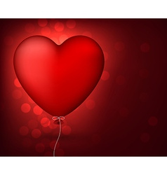 Classical red balloon heart vector