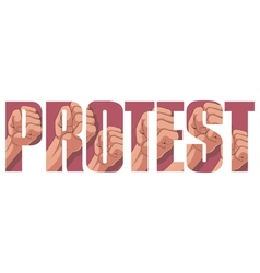 Protest sign vector
