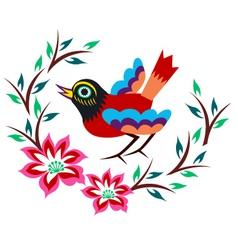 creative bird design vector image