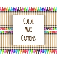 Colorful background with fence from wax vector