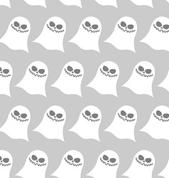White funny ghost seamless pattern backgrounds for vector