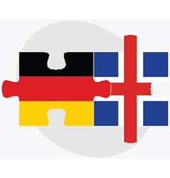 Germany and iceland flags vector