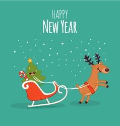 Happy newyear card vector