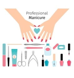 Professional manicure poster in flat style vector