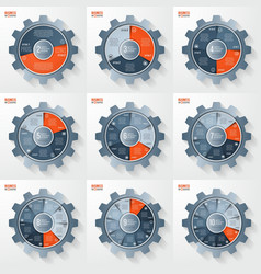 business and industry gear style infographis vector image