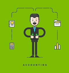 Businessman cartoon character business concept for vector