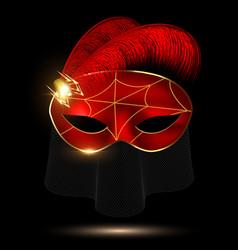 Black-crimson half mask vector