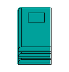 Closed book with blank label icon image vector