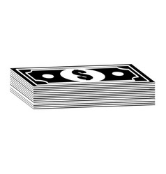 Contour bill dollar money vector