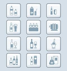 drinks set tech vector image vector image