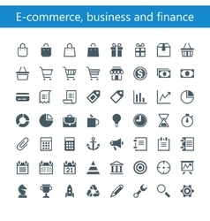 E-commerce business and finance vector