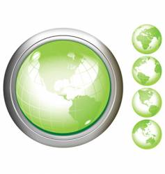 earth glossy buttons vector image vector image