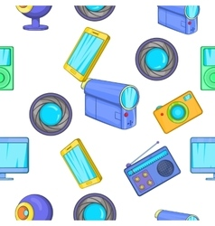 Electronic appliance pattern cartoon style vector