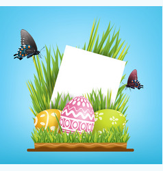 element design copy space for greeting card vector image