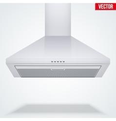 Exhaust range cooker hood vector