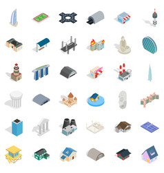 field icons set isometric style vector image vector image