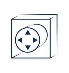 Gamepad controller symbol vector