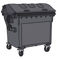Garbage container vector image