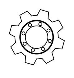 gear industrial piece vector image vector image