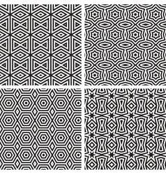 Geometric ornaments pattern set vector