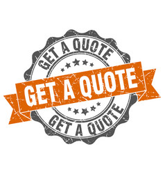 Get a quote stamp sign seal vector