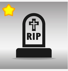 Grave black icon button logo symbol concept vector