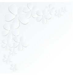 gray and white background flowers made of paper vector image