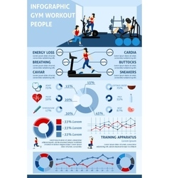 Gym workout infographics vector