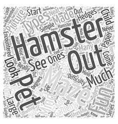 Hamster mazes word cloud concept vector