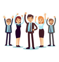 happy office people successful business man and vector image