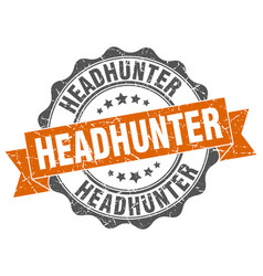 Headhunter stamp sign seal vector
