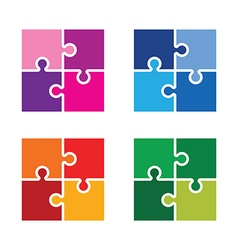 jigsaw colourful set vector image