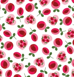 mod roses and hearts vector image