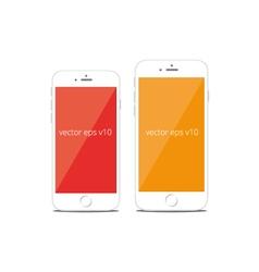 Modern smart phone isolation mobile phone i vector