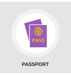 Passport Flat Icon vector image vector image