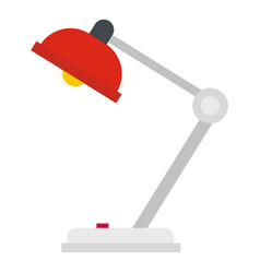 Red desk lamp icon isolated vector
