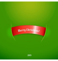 Red stripe with christmas text vector image