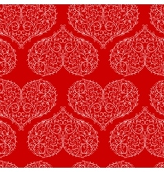 Seamless pattern with patterned heart vector