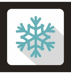 Snowflake icon in flat style vector image vector image