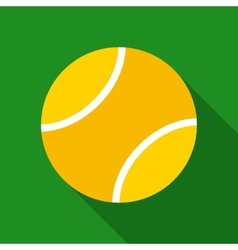 Tennis Ball in Flat Style vector image vector image