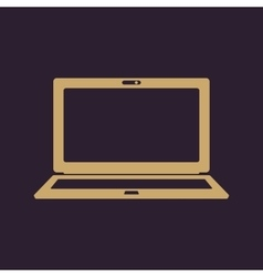 The laptop icon Notebook symbol vector image