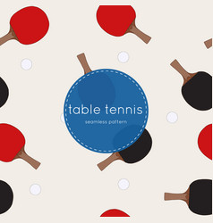 two rackets for playing table tennis seamless vector image