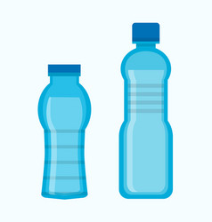 two water bottles vector image vector image