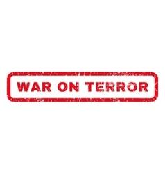 War on terror rubber stamp vector