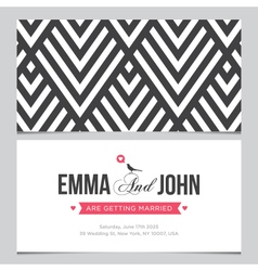 wedding card pattern 01 vector image