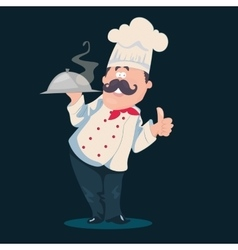 Chef cartoon character vector