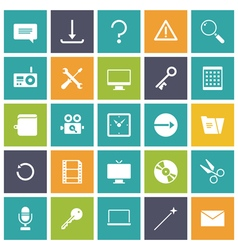 Flat design icons for user interface vector