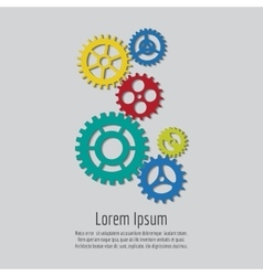 Colorful gears icons background design vector