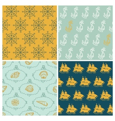 Set of Marine backgrounds vector image